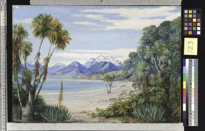 View of Mount Earnshaw from the Island in Lake Wakatipe, New Zealand