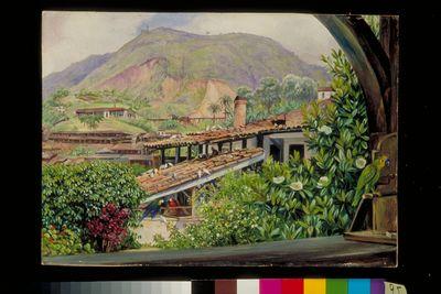 View of the Old Gold Works from the verandah at Morro Velho, Brazil