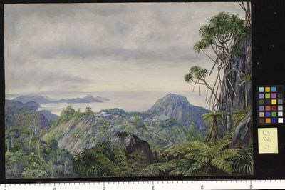 View of the South Coast of Mahe and Schools of Venn's Town, Seychelles